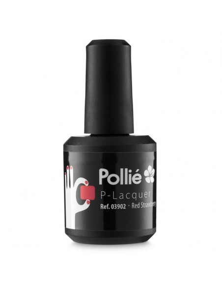 Esmalte de gel - P-Lacquer - Pollie - Red Strawberry - 15ml
