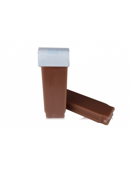 Cera depilatoria - Cera tibia roll-on de chocolate - Koken